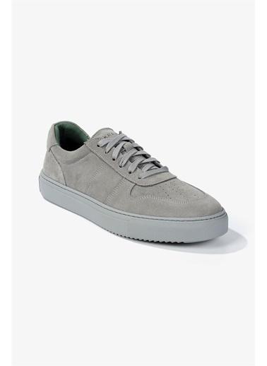 Krähe Cuervo Gri Süet Minimal Sneaker Gri